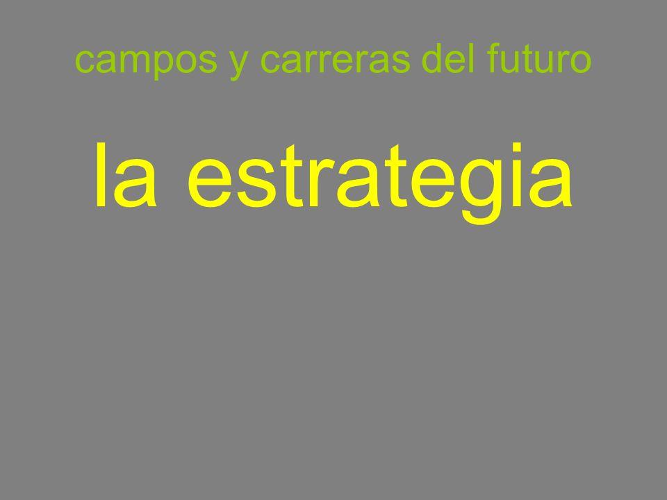 campos y carreras del futuro la estrategia