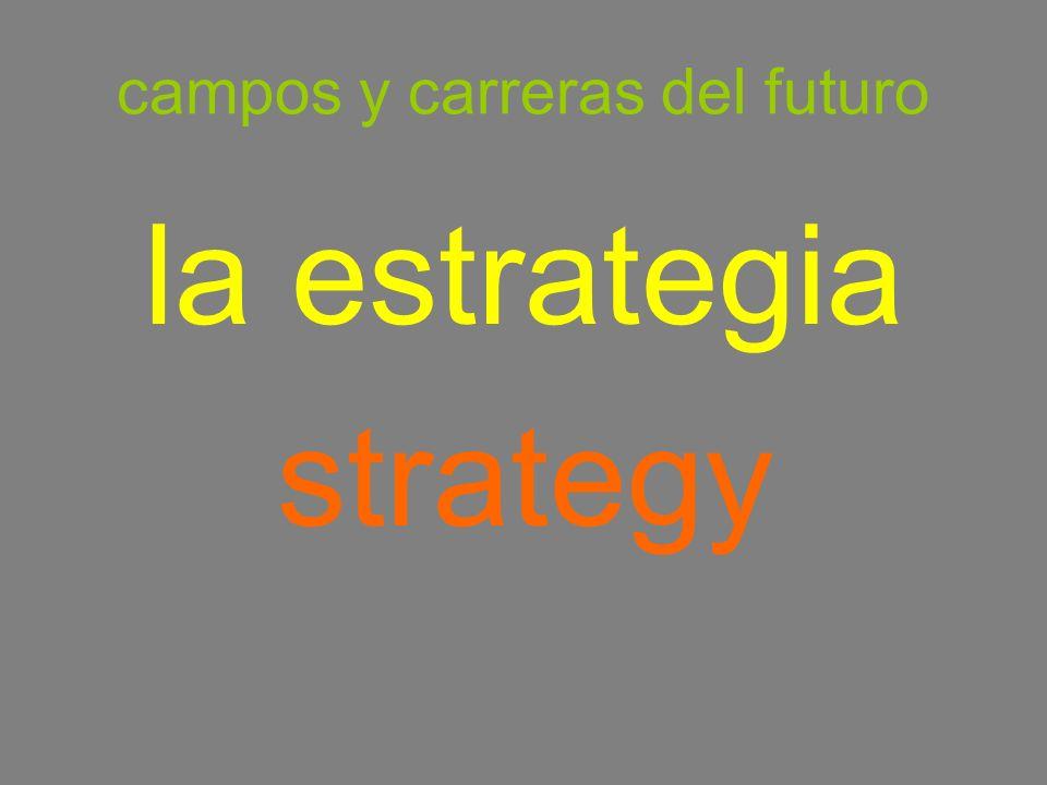 campos y carreras del futuro la estrategia strategy