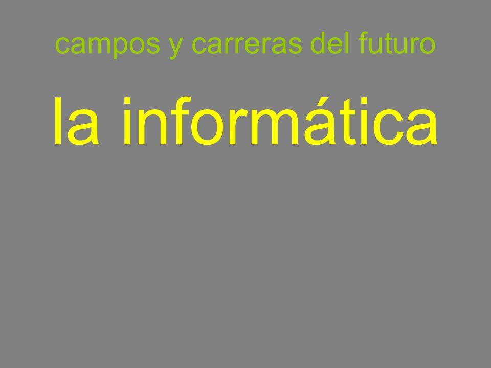 campos y carreras del futuro la informática information technology