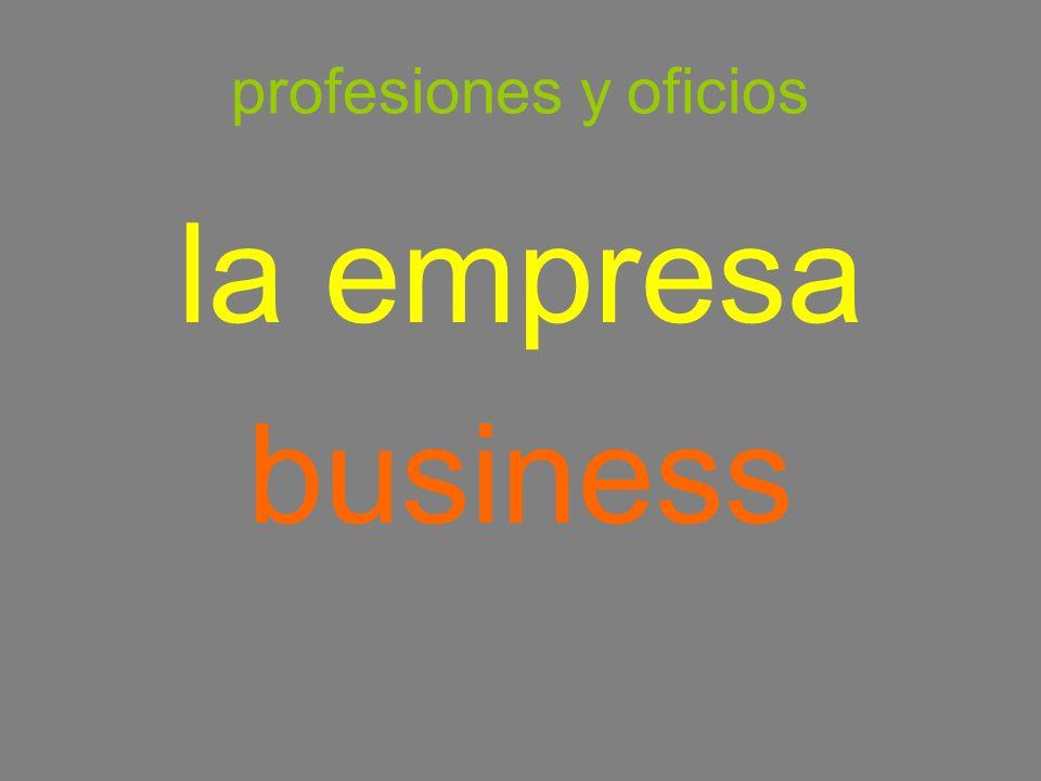 profesiones y oficios la empresa business