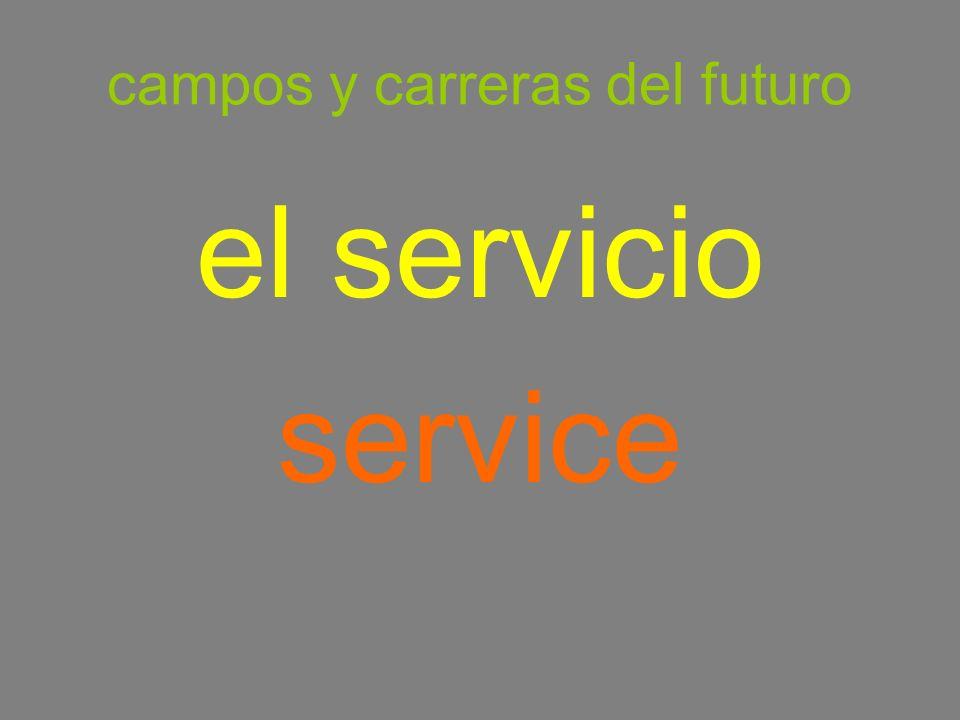 campos y carreras del futuro el servicio service