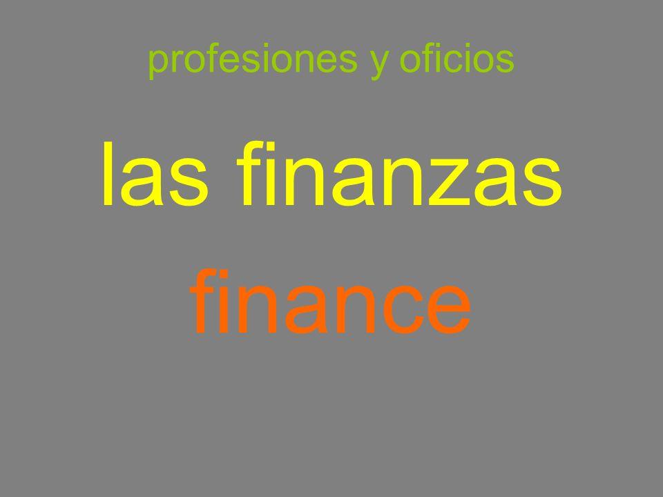 profesiones y oficios las finanzas finance