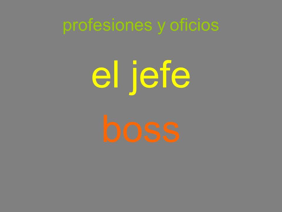 profesiones y oficios el jefe boss