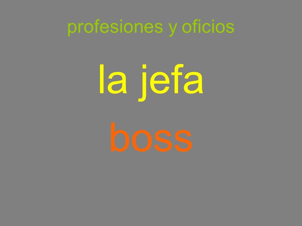 profesiones y oficios la jefa boss