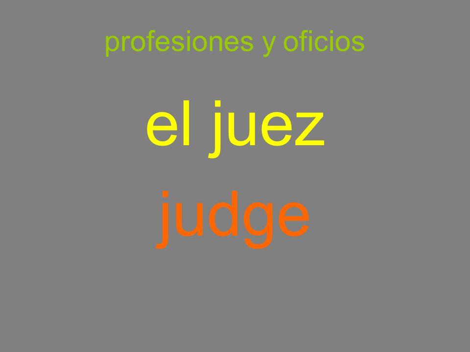 profesiones y oficios el juez judge