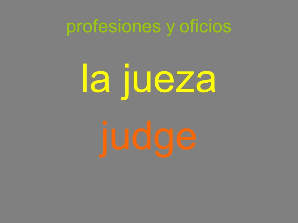 profesiones y oficios la jueza judge