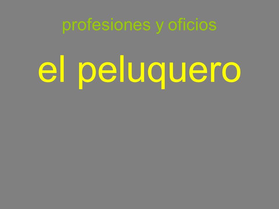 profesiones y oficios el peluquero barber / hairstylist