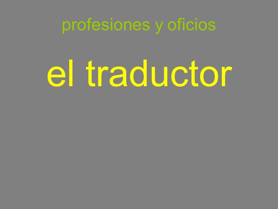 profesiones y oficios el traductor