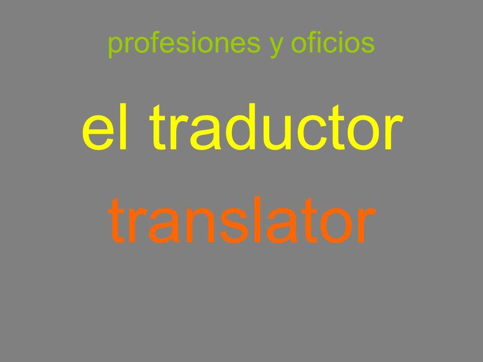 profesiones y oficios el traductor translator
