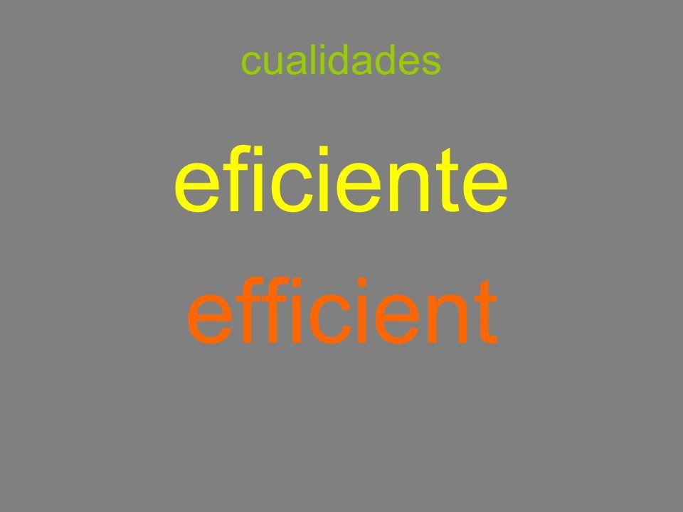 cualidades eficiente efficient