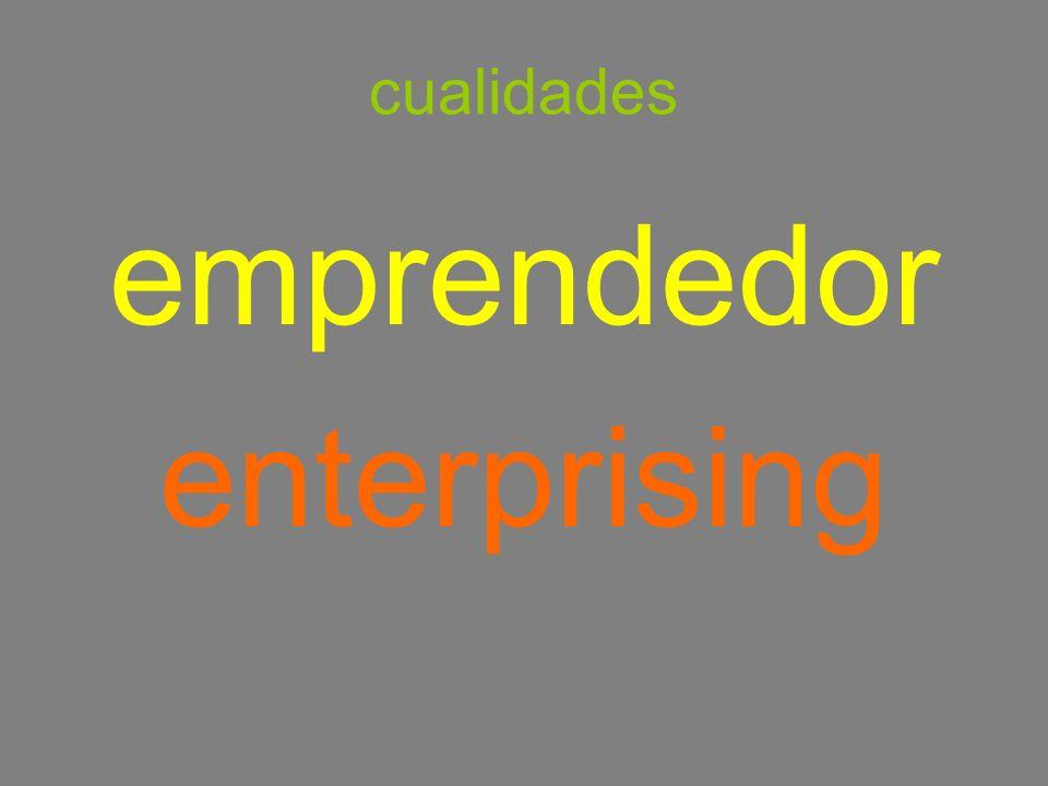 cualidades emprendedor enterprising