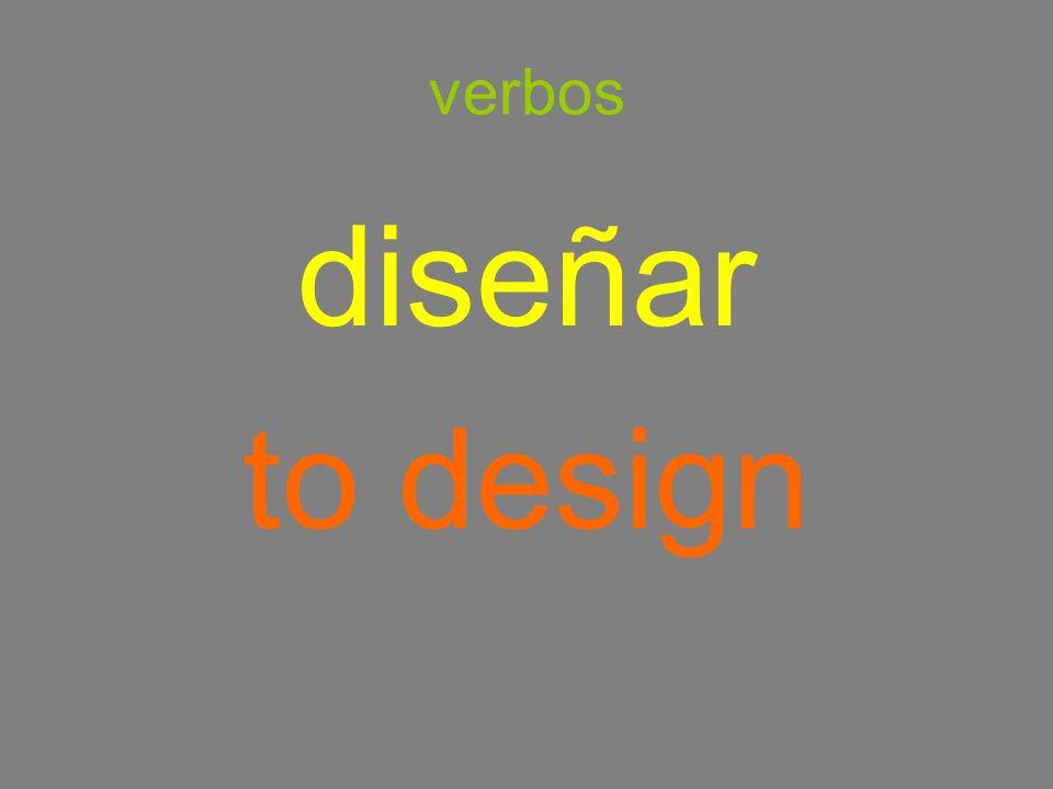 verbos diseñar to design