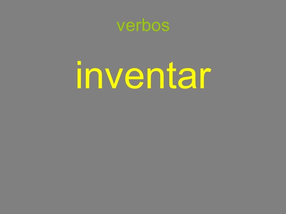 verbos inventar