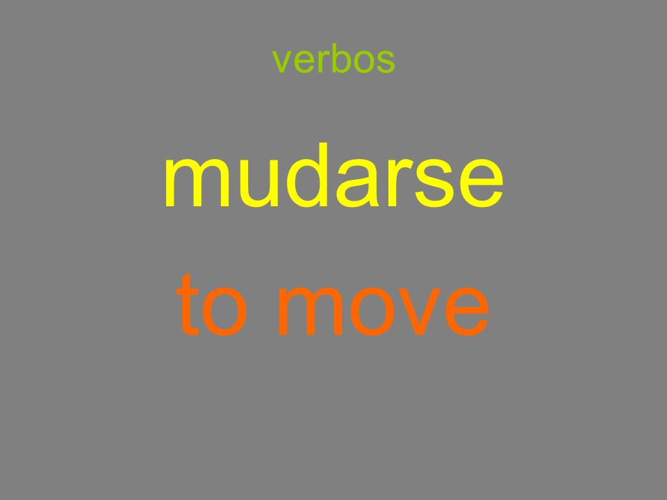 verbos mudarse to move