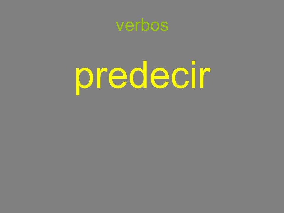 verbos predecir