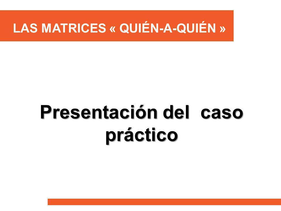 LAS MATRICES « QUIÉN-A-QUIÉN » Presentación del caso práctico