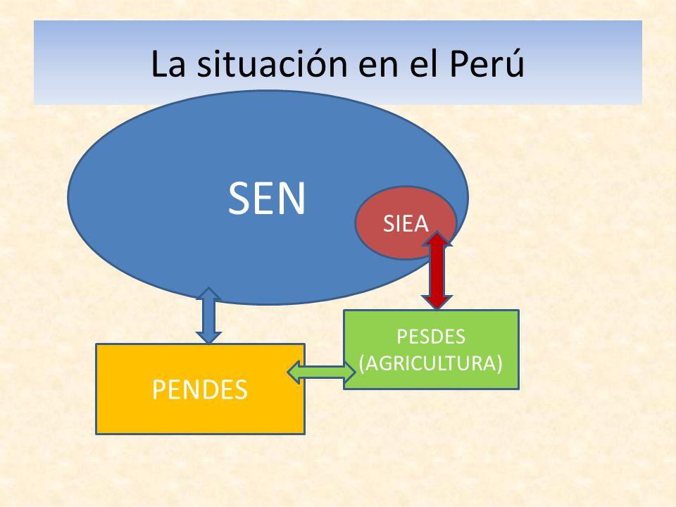 La situación en el Perú SEN SIEA PENDES PESDES (AGRICULTURA)