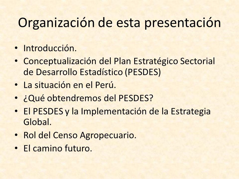 Organización de esta presentación Introducción.