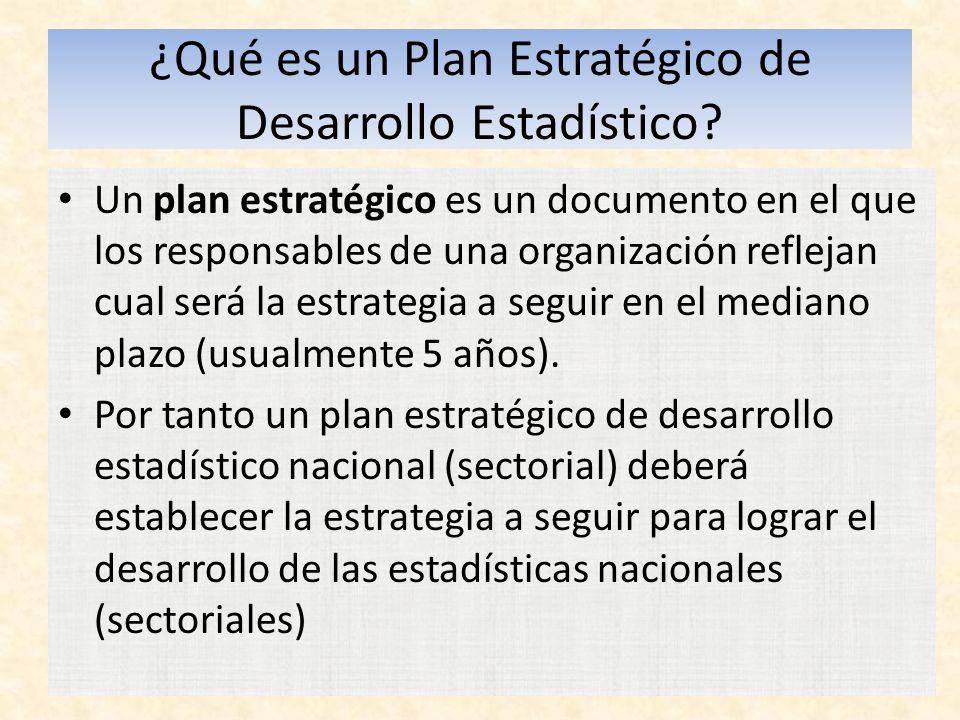 ¿Qué es un Plan Estratégico de Desarrollo Estadístico.