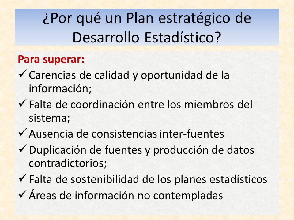 ¿Por qué un Plan estratégico de Desarrollo Estadístico.