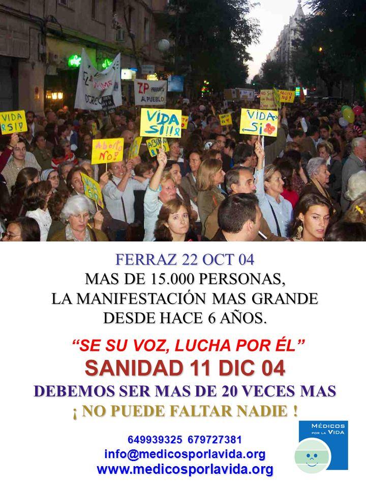 FERRAZ 22 OCT 04 MAS DE 15.000 PERSONAS, LA MANIFESTACIÓN MAS GRANDE DESDE HACE 6 AÑOS.