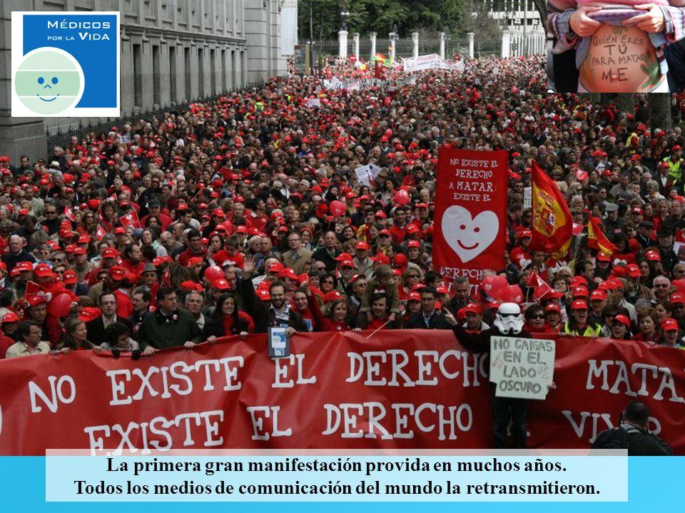 La primera gran manifestación provida en muchos años. Todos los medios de comunicación del mundo la retransmitieron.