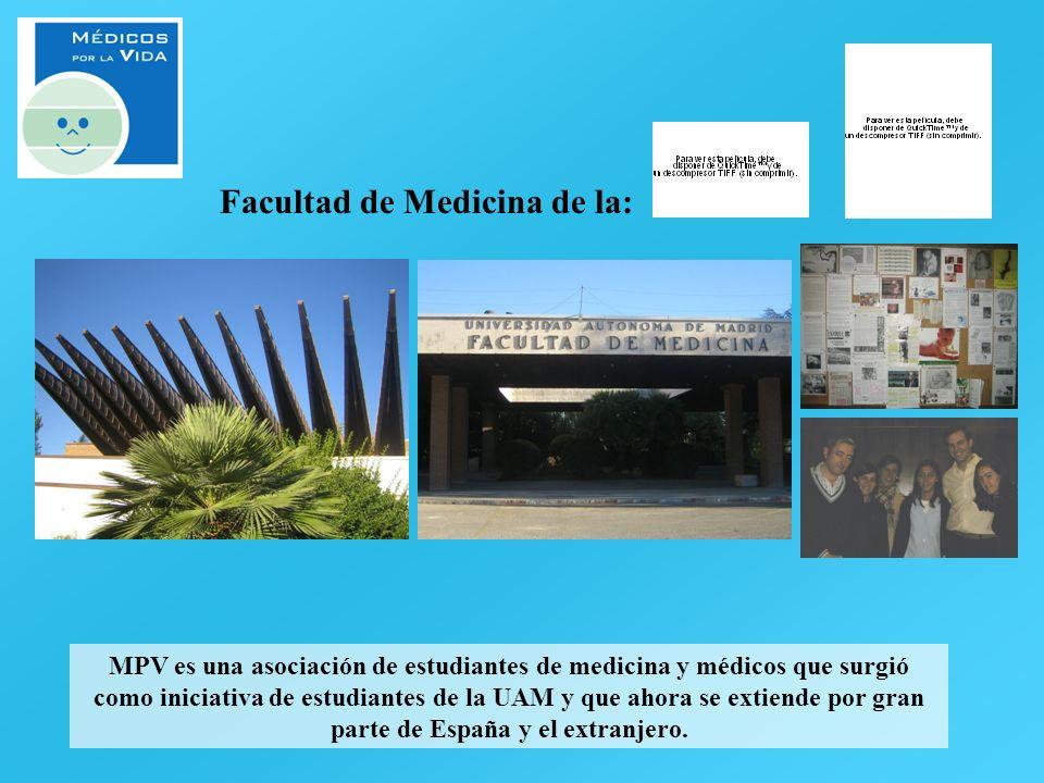 MPV es una asociación de estudiantes de medicina y médicos que surgió como iniciativa de estudiantes de la UAM y que ahora se extiende por gran parte