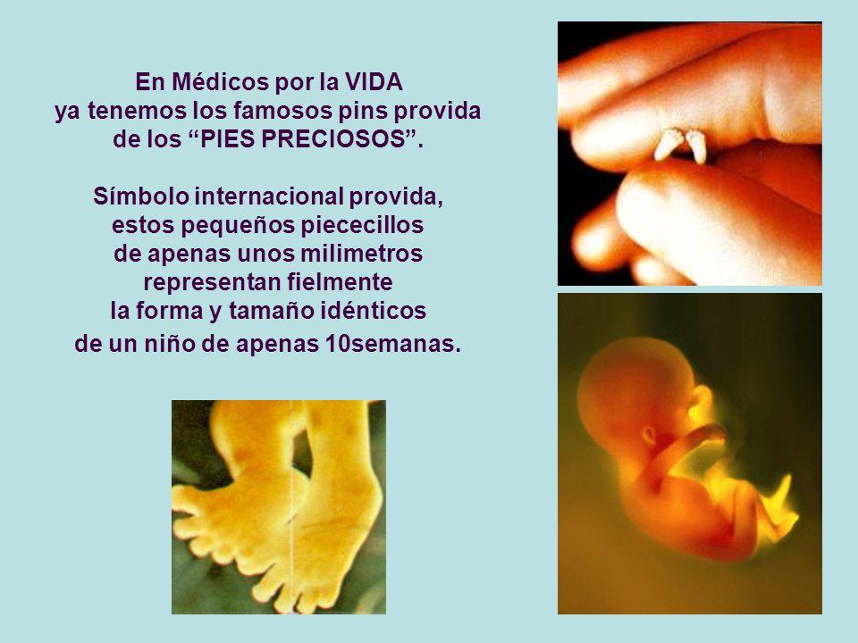 En Médicos por la VIDA ya tenemos los famosos pins provida de los PIES PRECIOSOS. Símbolo internacional provida, estos pequeños piececillos de apenas