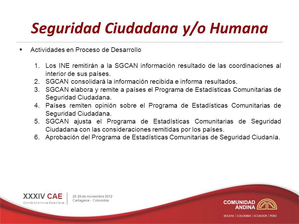 SDMX XXX Reunión del CAE (abril, 2011): Adoptar el SDMX como el estándar de la Comunidad Andina para la transmisión y el intercambio de datos y metadatos estadísticos.