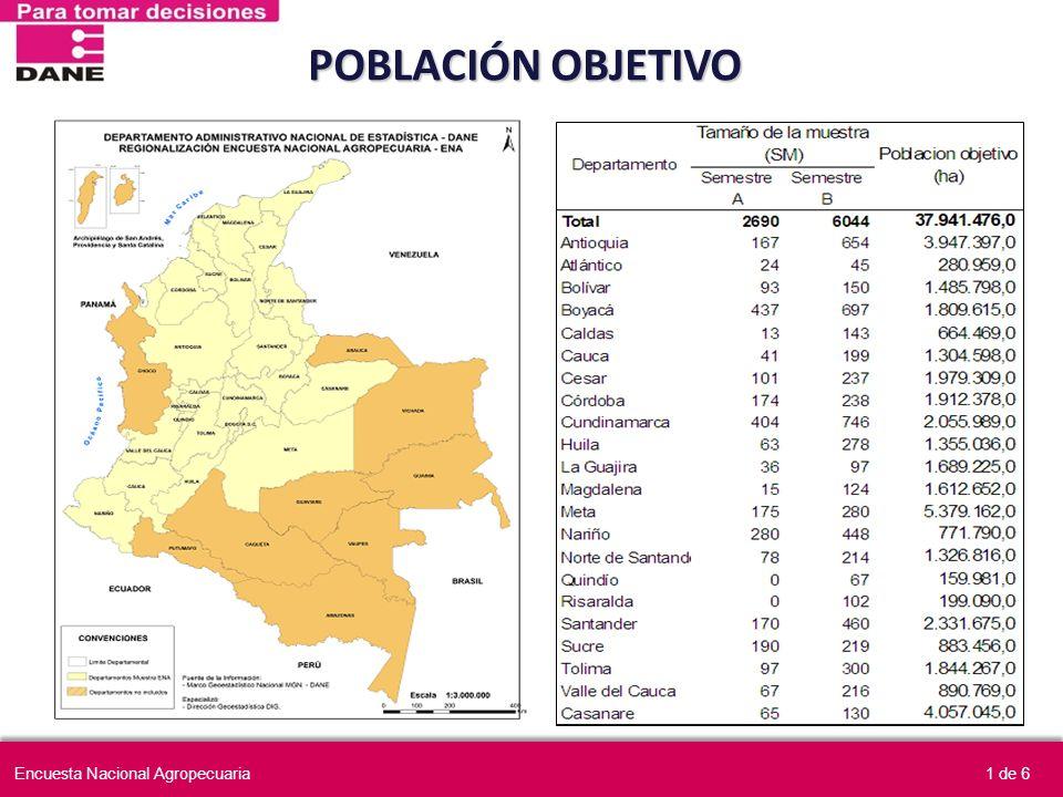 POBLACIÓN OBJETIVO 1 de 6Encuesta Nacional Agropecuaria