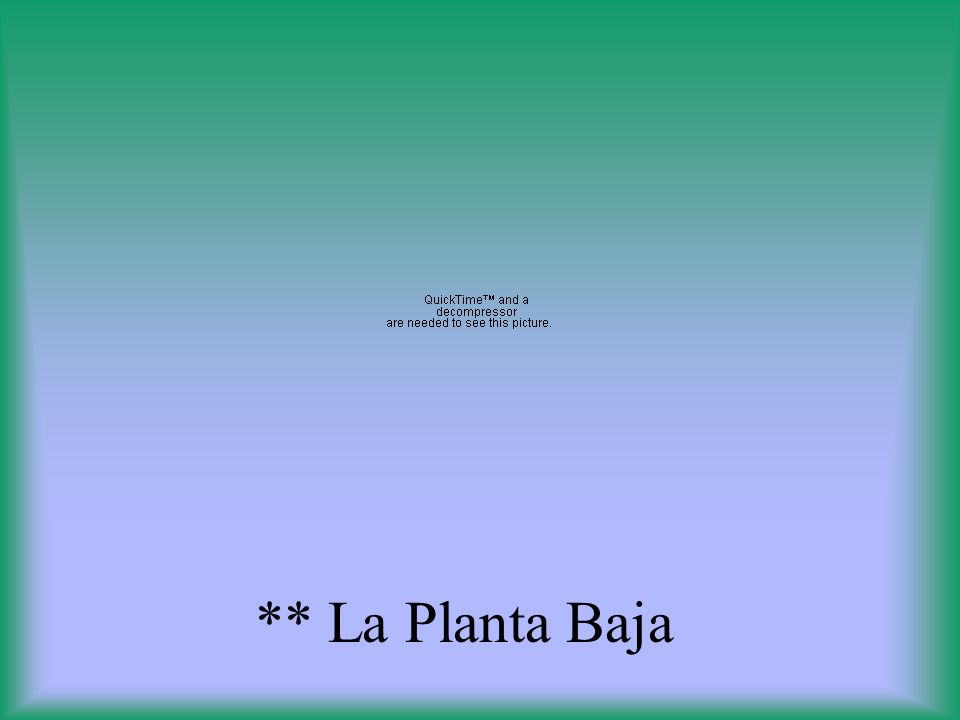 ** La Planta Baja