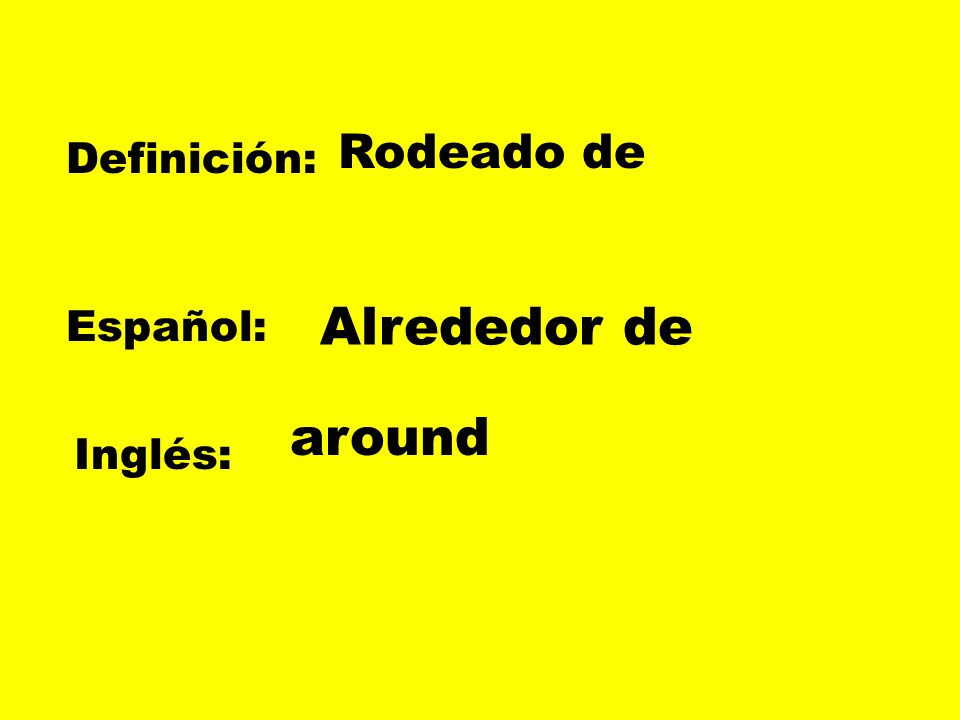 Definición: Español: Inglés: Sentir amor por una persona Enamorarse de To be in love with