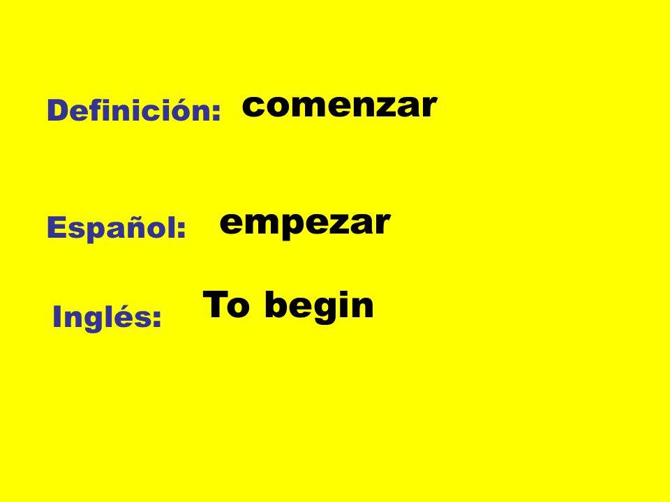 Definición: Español: Inglés: El peligro El riesgo The risk