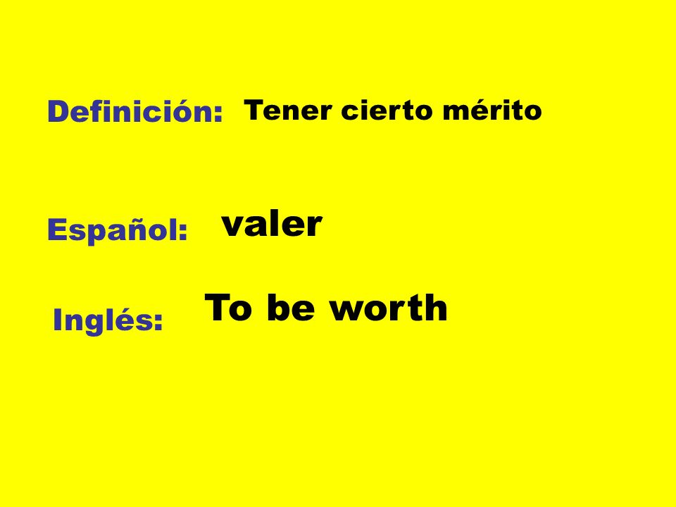 Definición: Español: Inglés: prometer jurar To swear