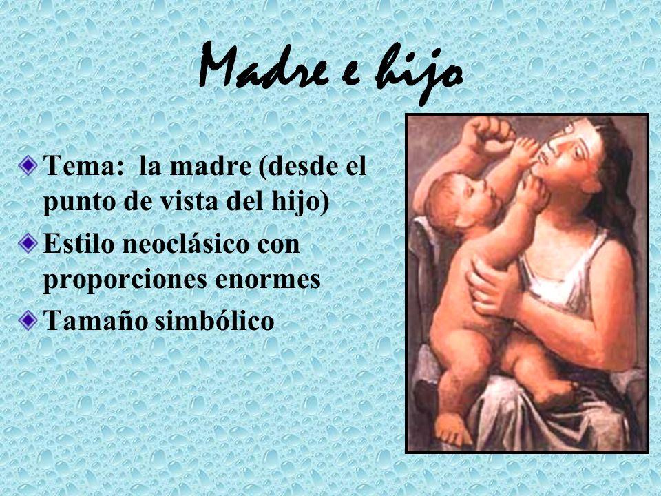 Madre e hijo Tema: la madre (desde el punto de vista del hijo) Estilo neoclásico con proporciones enormes Tamaño simbólico
