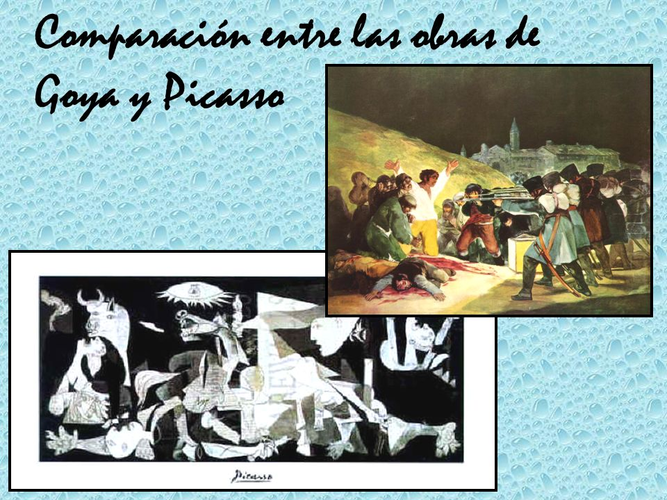 Comparación entre las obras de Goya y Picasso