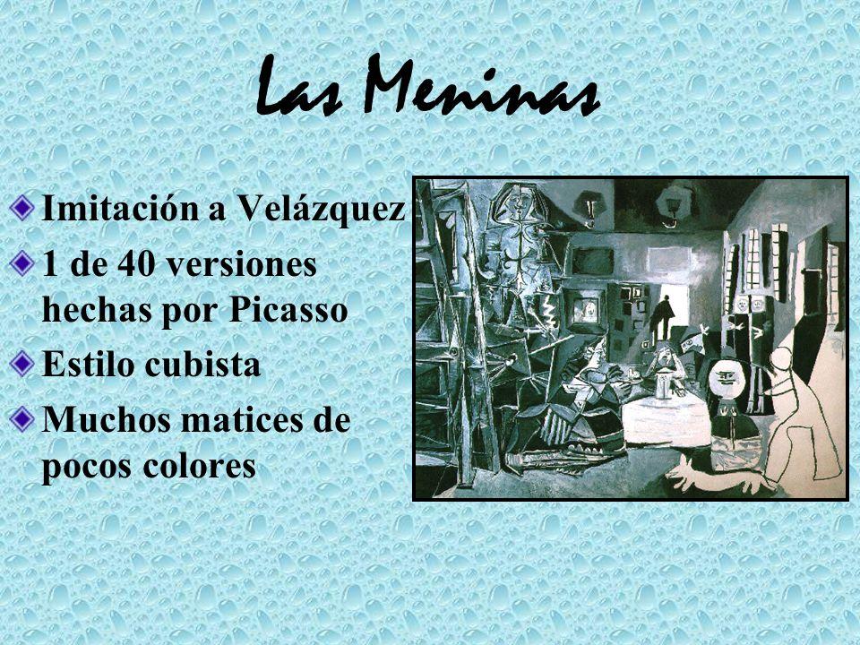 Las Meninas Imitación a Velázquez 1 de 40 versiones hechas por Picasso Estilo cubista Muchos matices de pocos colores