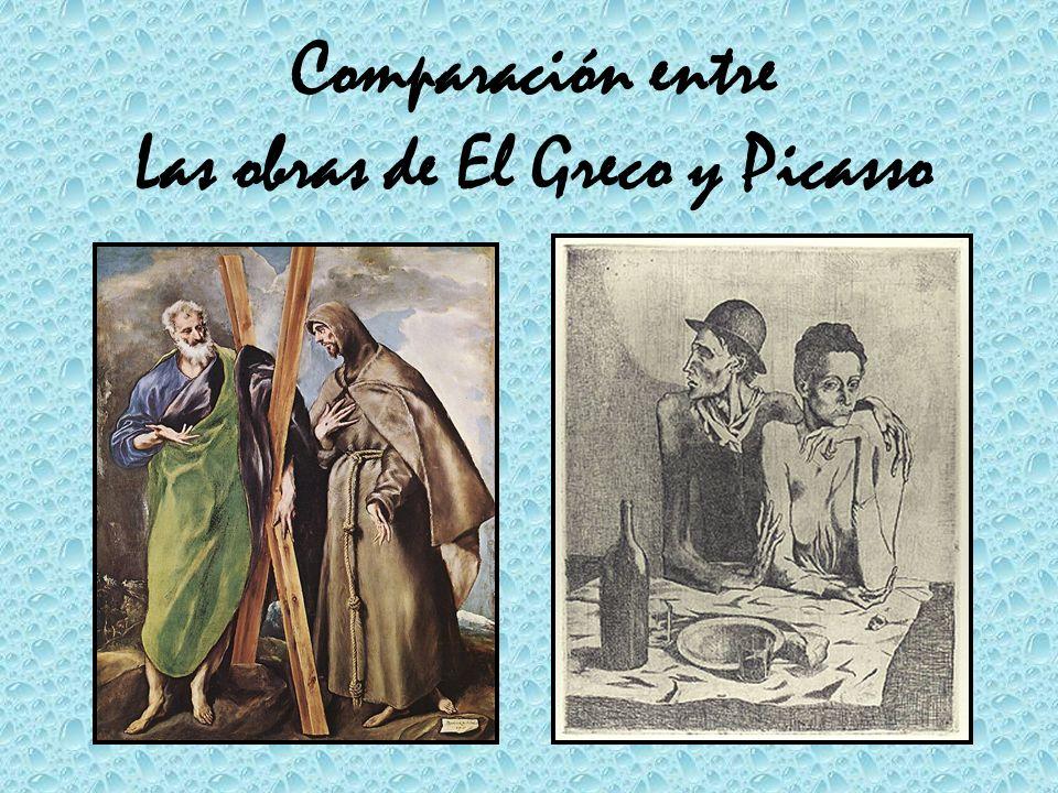 Comparación entre Las obras de El Greco y Picasso