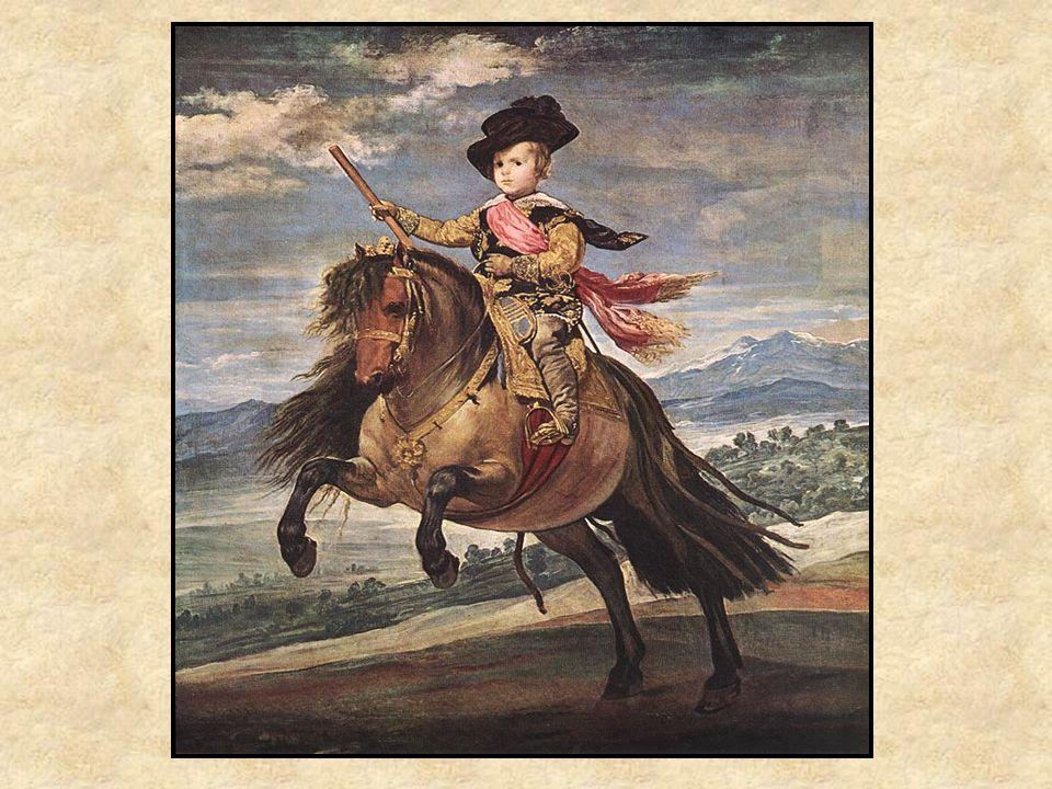 El Príncipe Baltázar Carlos Retrato Paisaje Sujeto real = el príncipe Simbolismo: caballo = trono Perspectiva para sobre una puerta
