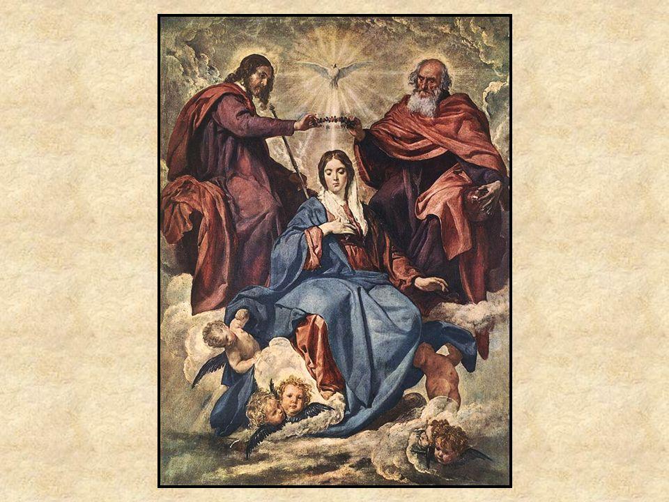 La Coronación de la Virgen Tema religioso Influencia de Miguel Angel Colores realistas y vivos, con contraste Tela tiene muchos matices de pocos colores