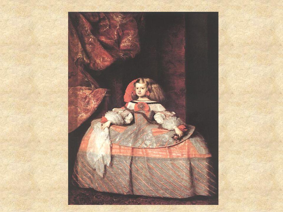 La Infanta Margarita Retrato Sujeto noble: la princesa Muchos matices de pocos colores Textura exquísita