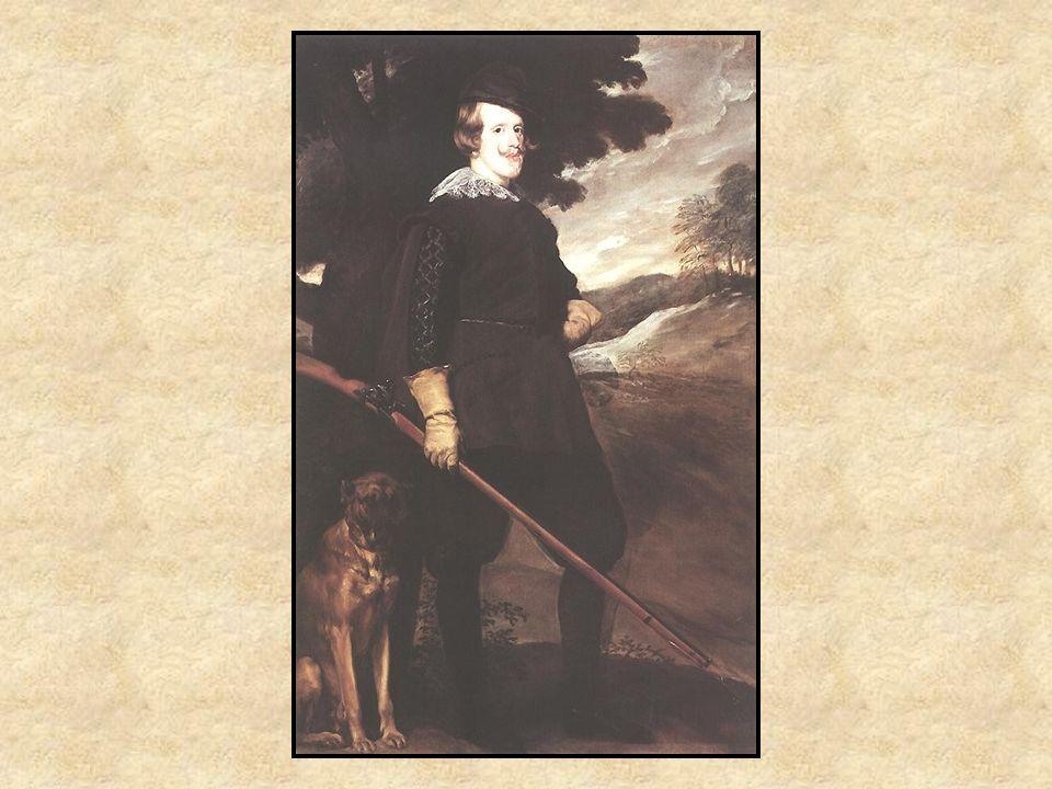 Felipe IV Retrato Paisaje Sujeto real: Felipe IV Representa el pasatiempo del rey Propaganda: El rey = hombre fuerte.