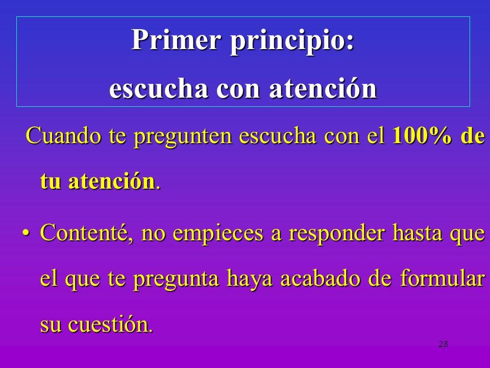 29 Segundo: toma el control Decide cuando deben ser contestadas:Decide cuando deben ser contestadas: –Contesta las cuestiones que piden aclaraciones.