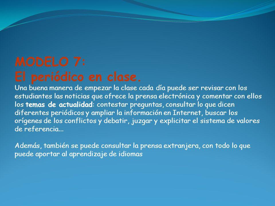 MODELO 8 Videoconferencias y comunicaciones colectivas on-line en clase.