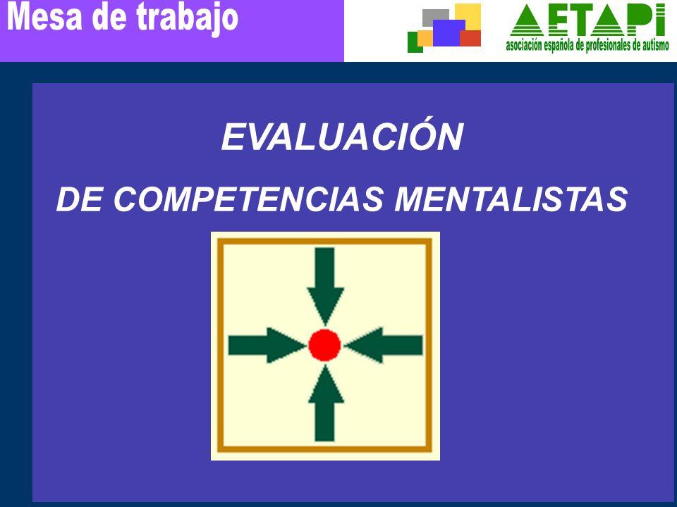 EVALUACIÓN DE COMPETENCIAS MENTALISTAS