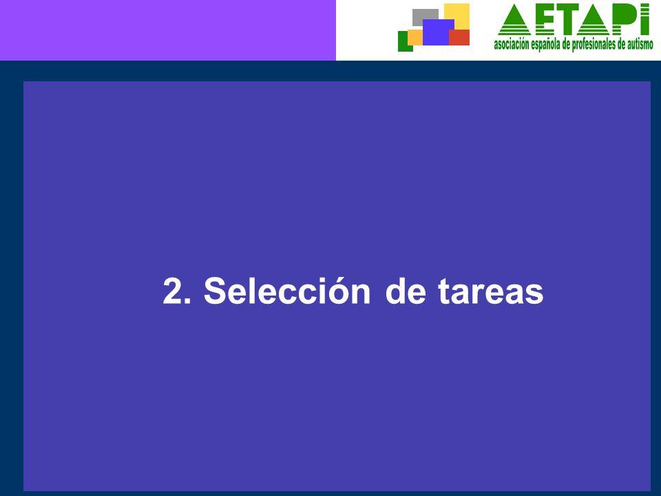 2. Selección de tareas
