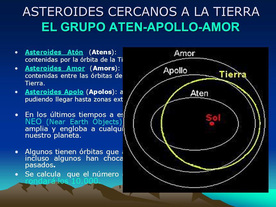 ASTEROIDES CERCANOS A LA TIERRA EL GRUPO ATEN-APOLLO-AMOR ASTEROIDES CERCANOS A LA TIERRA EL GRUPO ATEN-APOLLO-AMOR Asteroides Atón (Atens): asteroide