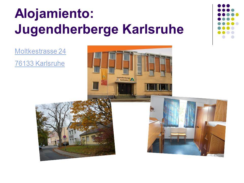 Alojamiento: Jugendherberge Karlsruhe Moltkestrasse 24 76133 Karlsruhe