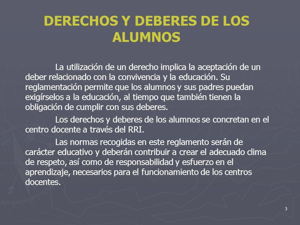 4 DERECHOS Y DEBERES DE LOS ALUMNOS Podemos destacar como reglamentaciones significativas relacionadas con los derechos del niño : NORMATIVA LEGALDERECHOS RECONOCIDOS Constitución Española de 1978 RD 732/1995 que establece los derechos y deberes de los alumnos y las normas de convivencia en los centros.