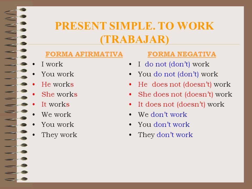PRESENT SIMPLE.SPELLING RULES Verbos acabados en -y.